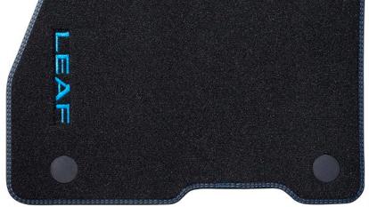 Velúrové rohože s dvojitým prešívaním (sada 4ks), modré