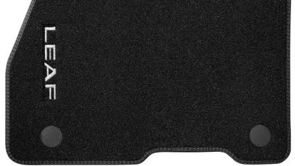 Velúrové rohože s dvojitým prešívaním (sada 4ks), čierne