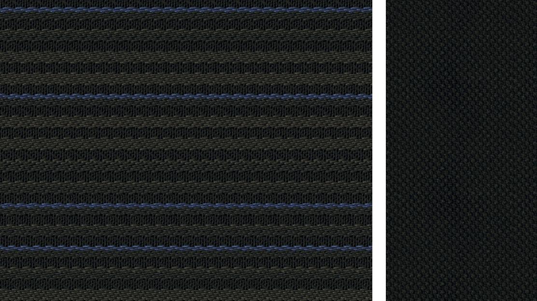 Čierna tkanina so semišovým vzhľadom (Bio výroba)